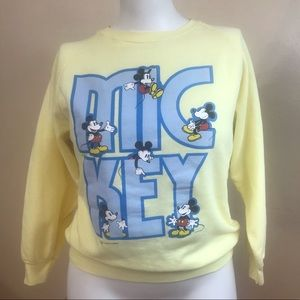 M Vintage Mickey Mouse Pullover Sweater GUC Disney